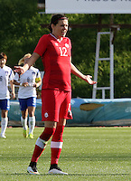 Fifa Womans World Cup Canada 2015 - Preview //<br /> Cyprus Cup 2015 Tournament ( Gsz Stadium Larnaca  - Cyprus ) - <br /> Canada vs South Korea 1-0  //  Christine Sinclair of Canada , celebrates after his Goal (1-0)