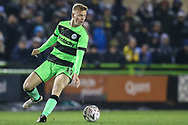 Forest Green Rovers Nathan McGinley(19) on the ball during the The FA Cup 1st round replay match between Forest Green Rovers and Oxford United at the New Lawn, Forest Green, United Kingdom on 20 November 2018.