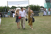 Marissa Montgomery, Oliver Felstead and Charlotte Lawson-Johnston. Cartier International Polo. Guards Polo Club. Windsor Great Park. 30 July 2006. ONE TIME USE ONLY - DO NOT ARCHIVE  © Copyright Photograph by Dafydd Jones 66 Stockwell Park Rd. London SW9 0DA Tel 020 7733 0108 www.dafjones.com