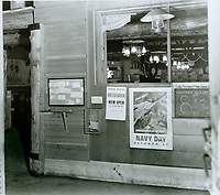 1943 Foyer at the Hollywood Canteen. Looking into main room