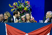 Prinses Beatrix is samen met prinses Margarita Bourbon de Parme in het publiek tijdens het paardenevenement Jumping Amsterdam in de RAI.<br /> <br /> Princess Beatrix with Princess Margarita Bourbon de Parme in the audience during the horse jumping event in Amsterdam RAI.<br /> <br /> Op de foto / On the photo:   prinses Margarita bourbon de parme en haar man tjalling