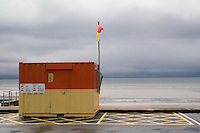 Lifeguard station at a beach in Galway Ireland