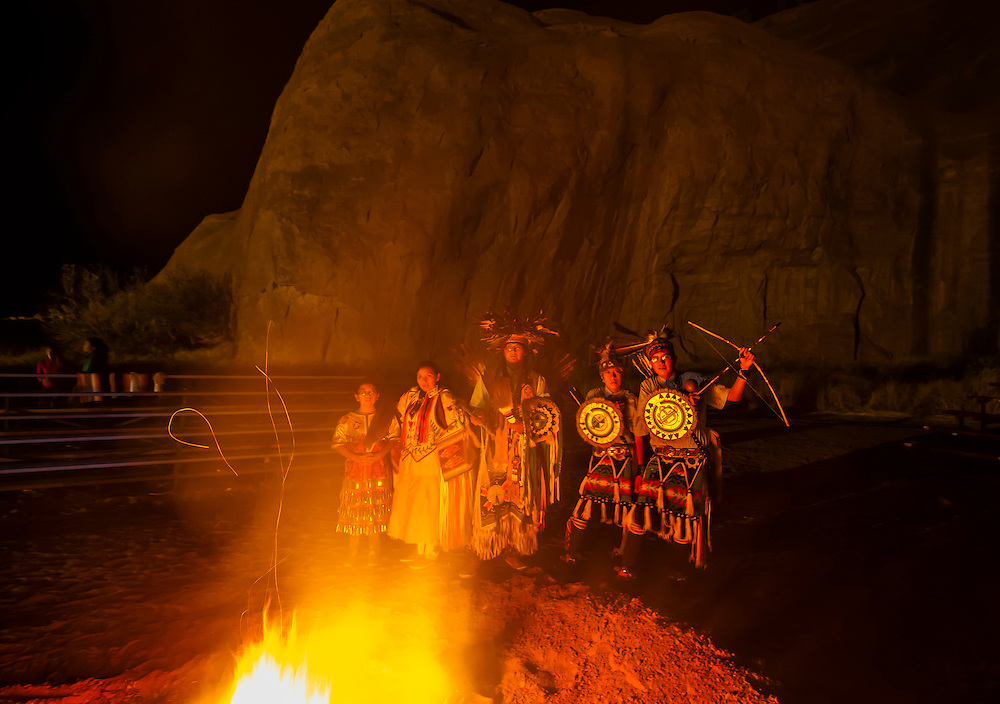 Native Americans dancers during the Red Rock Balloon Rally, Red Rock State Park, Gallup, New Mexico USA.