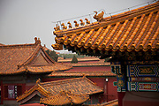 Ornate wooden rooves at the Forbidden City was the Chinese imperial palace from the Ming Dynasty to the end of the Qing Dynasty. It is located in the middle of Beijing, China, and now houses the Palace Museum. For almost 500 years, it served as the home of emperors and their households, as well as the ceremonial and political center of Chinese government. Built in 1406 to 1420, the complex consists of 980 buildings. The palace complex exemplifies traditional Chinese palatial architecture, and has influenced cultural and architectural developments in East Asia and elsewhere. The Forbidden City was declared a World Heritage Site in 1987, and is listed by UNESCO as the largest collection of preserved ancient wooden structures in the world.