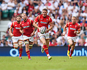 Wales' Rhys Priestland  makes break during the The Old Mutual Wealth Cup match England -V- Wales at Twickenham Stadium, London, Greater London, England on Sunday, May 29, 2016. (Steve Flynn/Image of Sport)