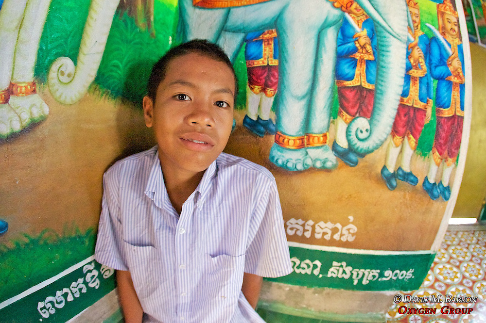 Young Boy In Pagoda