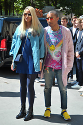 Pharrell Williams and Helen Lasichanh arriving at the Chanel show during Paris Fashion Week Haute Couture Collection Fall/Winter 2017-2018 in Paris, France on July 3, 2017. Photo by Robin Psaila /ABACAPRESS.COM