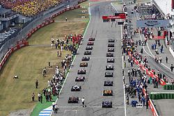 July 22, 2018 - Hockenheim, Germany - Motorsports: FIA Formula One World Championship 2018, Grand Prix of Germany, . Starting Grid  (Credit Image: © Hoch Zwei via ZUMA Wire)