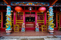 Indonesia, Sulawesi, Manado. Ban Hin Kiong Temple is a popular tourism spot in Manado's China Town. It is a 19th century Buddhist temple.
