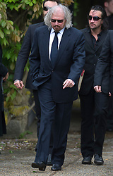 © London News Pictures. 08/06/2012. Thame, UK.  Barry Gibb (brother) leaving the home of former Bee Gee Robin Gibb on their way to St Mary's Church in Thame, Oxfordshire for the funeral of Robin Gibb on June 8, 2012. Robin Gibb died on May 20, 2012 aged 62 following a long battle against cancer. Photo credit: Ben Cawthra/LNP