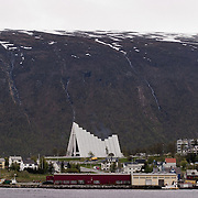Three weeks aboard the Kong Harald. Hurtigruten, the Coastal Express. Tromso, the cathedral.