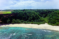 East Nusa Tenggara, Sumba. Flat plateau on Sumba (from helicopter).