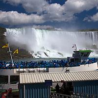 Canada, Ontario, Niagara Falls. Maid of the Mist at pier.