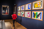 Matisse Cut-outs - Christie'sl pre-sale exhibition of Queen Anne's Gate: Works from the Art Collection of Sting & Trudie Styler, opening to the public on Thursday 18th until Tuesday 23rd February. Built up over the past 20 years, over 150 lots will be offered from the collection. Alongside highlights by Henri Matisse, Pablo Picasso, Robert Mapplethorpe and Ben Nicholson, the collection includes Sting's Steinway Grand Piano, which occupied pride of place in the music room at Queen Anne's Gate.