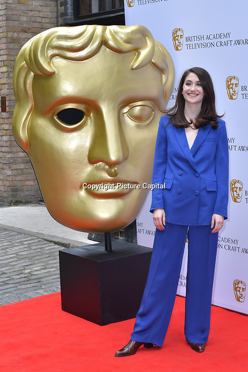 Charly Clive Arrivers at the British Academy Television Craft Awards on 28 April 2019, London, UK.