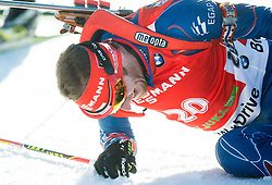SLESINGR Michal (CZE) exhausted in finish area after he competed during Men 12,5 km Pursuit at day 3 of IBU Biathlon World Cup 2014/2015 Pokljuka, on December 20, 2014 in Rudno polje, Pokljuka, Slovenia. Photo by Vid Ponikvar / Sportida
