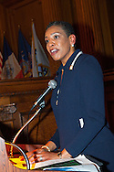 January 11, 2012 - Brooklyn, New York, USA: Natalie Bowen-Mckenzie is Master of Ceremony of 2nd Annual Interfaith Memorial Service for Haiti, Wednesday night at Brooklyn Borough Hall. The service was held two years after the Mw 7.0 earthquake at Haiti.