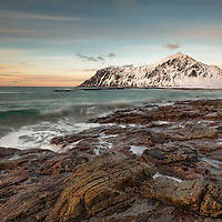 Wandering along an arctic beach at sunset in the Lofoten Islands of Norway made me wonder whether I was really awake or in some magical dream.