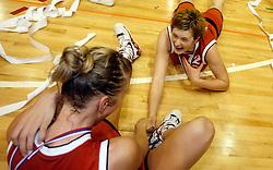 Zorka Bilic (12) celebrates at finals of Slovenian women basketball 1st league between Hit Kranjska Gora and ZKK Merkur Celje, on May 15, 2007, in Kranjska Gora, Slovenia. (Photo by Vid Ponikvar / Sportida)