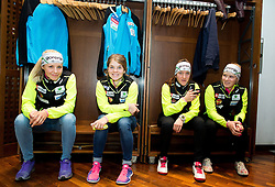 Cross country team during official presentation of the outfits of the Slovenian Ski Teams before new season 2015/16, on October 6, 2015 in Kulinarika Jezersek, Sora, Slovenia. Photo by Vid Ponikvar / Sportida