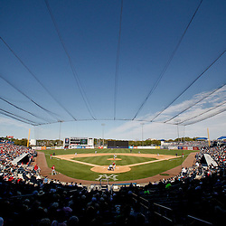 March 4, 2012; Tampa Bay, FL, USA; A general view during spring training game between the New York Yankees and the Philadelphia Phillies at George M. Steinbrenner Field. Mandatory Credit: Derick E. Hingle-US PRESSWIRE