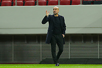 PIRAEUS, GREECE - NOVEMBER 25: Josep Guardiola, coach of Manchester City during the UEFA Champions League Group C stage match between Olympiacos FC and Manchester City at Karaiskakis Stadium on November 25, 2020 in Piraeus, Greece. (Photo by MB Media)