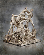 2nd century AD Roman marble sculpture known as the Farnese Bull from the Baths of Caracalla, Rome, Farnese Collection, Naples Museum of Archaeology, Italy. Wall art print by Photographer Paul E Williams .<br /> <br /> If you prefer visit our World Gallery Print Shop To buy a selection of our prints and framed prints desptached  with a 30-day money-back guarantee and is dispatched from 16 high quality photo art printers based around the world. ( not all photos in this archive are available in this shop) https://funkystock.photoshelter.com/p/world-print-gallery