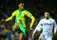 West Bromwich Albion's Tosin Adarabioyo shields the ball from Leeds United's Tyler Roberts<br /> <br /> Photographer Alex Dodd/CameraSport<br /> <br /> The EFL Sky Bet Championship - Leeds United v West Bromwich Albion - Friday 1st March 2019 - Elland Road - Leeds<br /> <br /> World Copyright © 2019 CameraSport. All rights reserved. 43 Linden Ave. Countesthorpe. Leicester. England. LE8 5PG - Tel: +44 (0) 116 277 4147 - admin@camerasport.com - www.camerasport.com