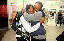 A very emotinal Xoliswa kakana bids farewell to her sister Lilitha kakana as she leaves for Trek4Mandela to summit the kilamanjaro in Tanzania, Trek4Mandela campaign is an initiative that aims to raise awareness and funds to address the lack of sanitary pads and feminine wellness in disadvantaged South African communities.<br /> Picture:Nokuthula Mbatha/African News Agency/ANA
