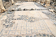 "Israel, Bet Shean (Scythopolis). In 64 BCE it was taken by the Romans, rebuilt, and made the capital of the Decapolis, the ""Ten Cities"" of Samaria that were centers of Greco-Roman culture. Mosaic Floor"