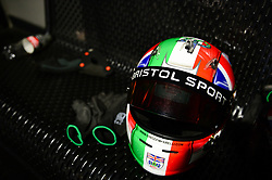 Bristol Sport branding on Racing helmet - Mandatory by-line: Dougie Allward/JMP - 08/03/2018 - SPORT - Absolutely Karting - Bristol, England - Bristol Sport Absolutely Karting