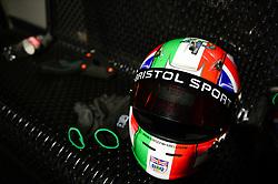 Bristol Sport branding on Racing helmet - Mandatory by-line: Dougie Allward/JMP - 08/03/2018 - SPORT - Absolutely Karting - Bristol, England - Bristol Sport Absolutely Karting