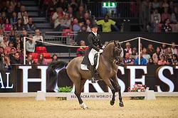 Kirk Thinggaard Agnete, (DEN), JoJo AZ<br /> Grand Prix Freestyle <br /> Reem Acra FEI World Cup Dressage <br /> London International Horse Show<br /> © Hippo Foto - Jon Stroud