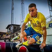 Uddevalla 2016 06 03 Rimnersvallen<br /> U21 kval<br /> Sweden vs Georgia<br /> Debutanten Jordan Larsson avgör matchen 3-2<br /> <br /> ----<br /> FOTO : JOACHIM NYWALL KOD 0708840825_1<br /> COPYRIGHT JOACHIM NYWALL<br /> <br /> ***BETALBILD***<br /> Redovisas till <br /> NYWALL MEDIA AB<br /> Strandgatan 30<br /> 461 31 Trollhättan<br /> Prislista enl BLF , om inget annat avtalas.