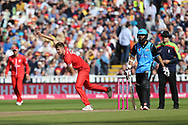 Lancashires Toby Lester during the Vitality T20 Finals Day semi final 2018 match between Worcestershire Rapids and Lancashire Lightning at Edgbaston, Birmingham, United Kingdom on 15 September 2018.