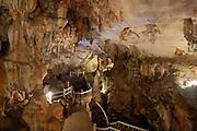 Interior view of the famous Tham Jang Caves near Vang Vieng, Laos.
