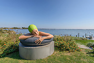 Serena, Carole A. Feuerman sculpture, . Estate on  Rose Hill Rd, Water Mill, NY