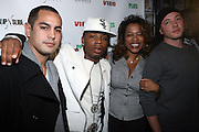l to r: Plies and Danyel Smith at The Vibe Magazine VIP Celebration for Vibe's December cover featuring the first New York show of Plies, held at The Knitting Factory on November 24, 2008 in NYC