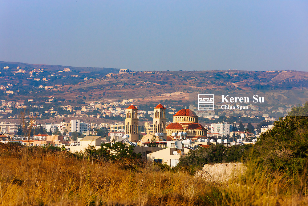 Cityscape of Paphos (Pafos), Republic of Cyprus