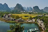 Chine, Province du Guangxi, region de Guilin, Centre touristique Shangrila // China, Guangxi province, Guilin area, Shangrila touristic centre