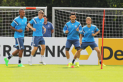 02.09.2015, Commerzbanarena, Frankfurt, GER, UEFA Euro 2016 Qualifikation, Deutschland, Training, im Bild Jerome Boateng, Toni Kroos, Ilkay Gündogan, Guendogan, Thomas Müller, Mueller // during a training session of german national football team in front of the UEFA European Championship Qualifier matches against Poland and Scotland. Commerzbanarena in Frankfurt, Germany on 2015/09/02. EXPA Pictures © 2015, PhotoCredit: EXPA/ Eibner-Pressefoto/ Roskaritz<br /> <br /> *****ATTENTION - OUT of GER*****