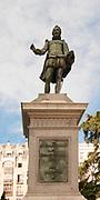 Miguel de Cervantes Saavedra's statue near the Spanish Congress of Deputies in Madrid, Spain