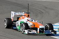 MOTORSPORT - F1 2013 - WINTER TESTS - JEREZ DE LA FRONTERA (ESP) - 05 TO 10/02/2013 - PHOTO : FREDERIC LE FLOCH / DPPI -.DI RESTA PAUL (GBR) - FORCE INDIA VJM06 - ACTION
