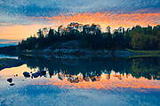 Sunset reflection  on Middle Lake<br />Kenora<br />Ontario<br />Canada