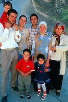 Turkish family, Zelve, Cappadocia, Turkey