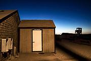 Beach shack at dawn, Nauset Beach, Orleans, Cape Cod, MA