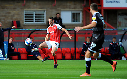 Matty Blair of Cheltenham Town tries to control the ball- Mandatory by-line: Nizaam Jones/JMP - 10/10/2020 - FOOTBALL - Jonny-Rocks Stadium - Cheltenham, England - Cheltenham Town v Crawley Town - Sky Bet League Two