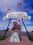 Mile 0 of the Alaska Highway, Dawson Creek, British Columbia, Canada.