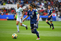 Hasegawa during the FIFA Women's World Cup group D first round soccer match between Argentina and Japan at Parc des Princes Stadium in Paris, France on June 10, 2019. The FIFA Women's World Cup France 2019 will take place in France from 7 June until 7 July 2019. Photo by Christian Liewig/ABACAPRESS.COM