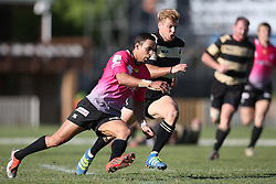 Jean-Paul Lewis of the Pumas and Gerhard Jordaan of Boland chase after a loose ball during the Currie Cup premier division match between the Boland Cavaliers and The Pumas held at Boland Stadium, Wellington, South Africa on the 2nd September 2016<br /> <br /> Photo by:   Shaun Roy/ Real Time Images